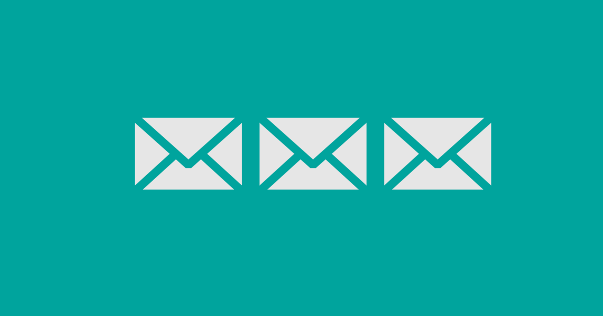 Envie 3 emails antes de desistir