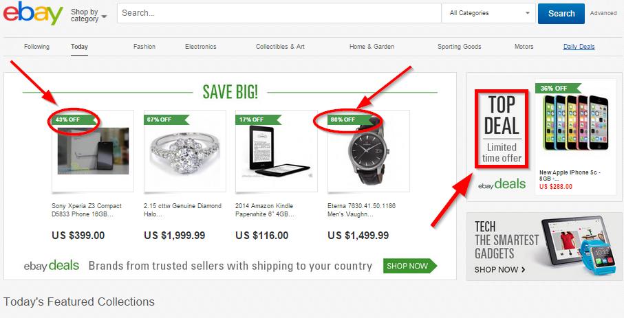 como ebay usa sentido de urgência