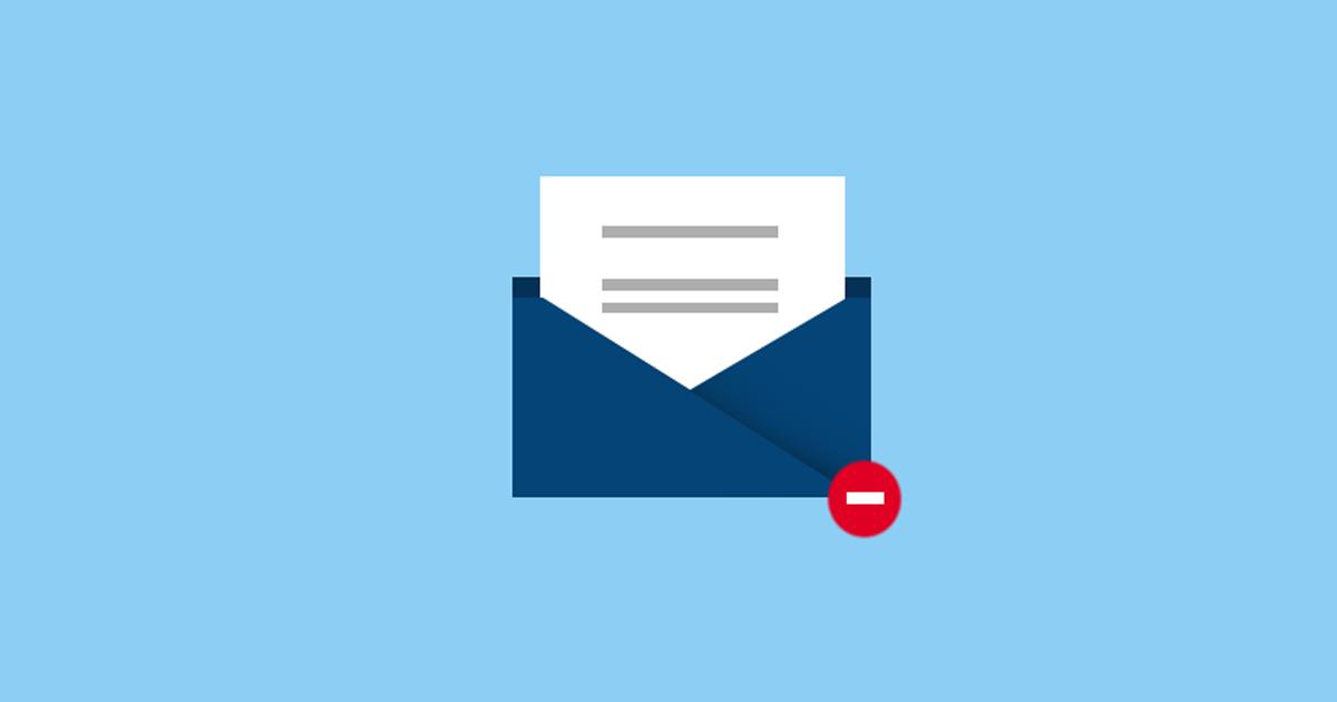 Não envie emails longos