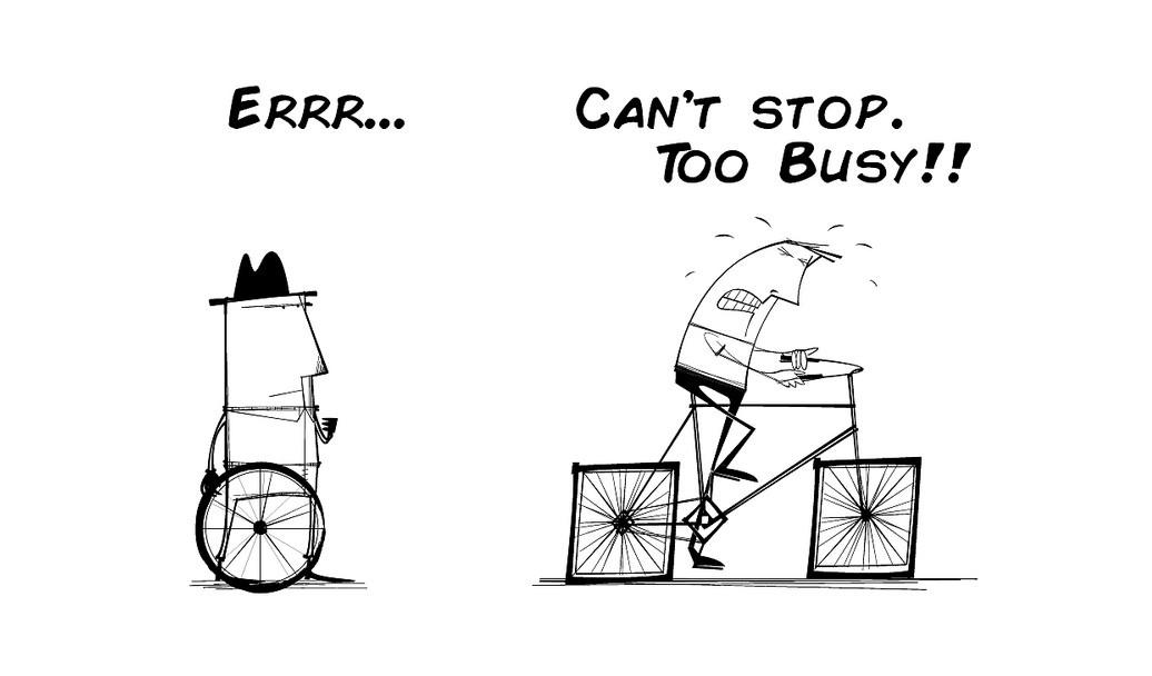 Quando lhe dizem que estão ocupados estão a mentir