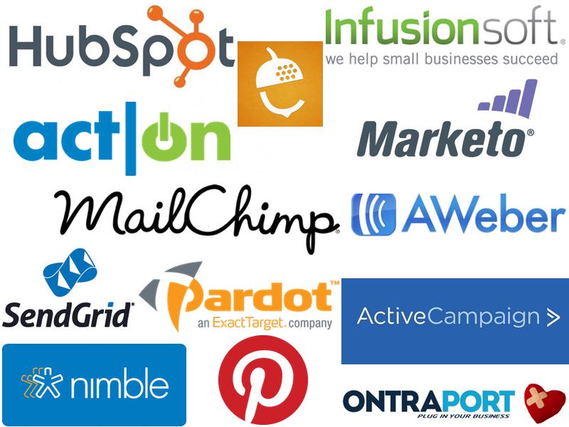 Diferentes serviços de software de email marketing