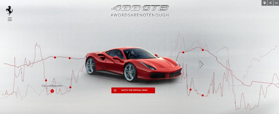 Ferrari 488 gbt vermelho