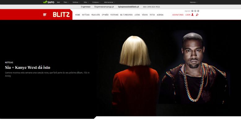site da Blitz sobre música