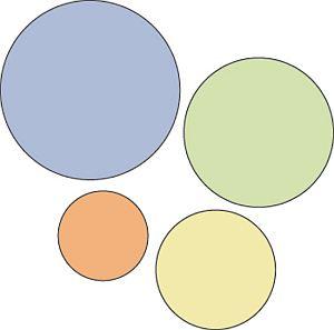 imagem de círculos