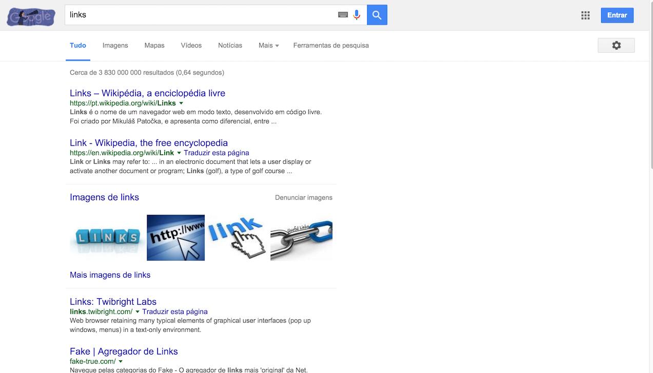exemplo de links azuis