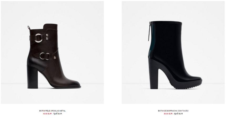 site de sapatos Zara