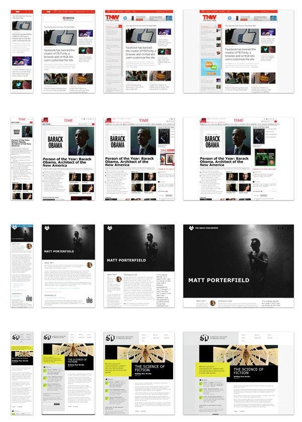 exemplos de sites responsivos