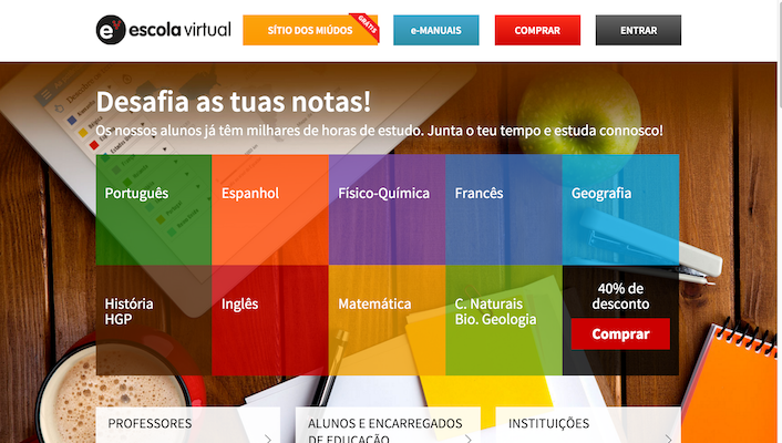 homepage escola virtual