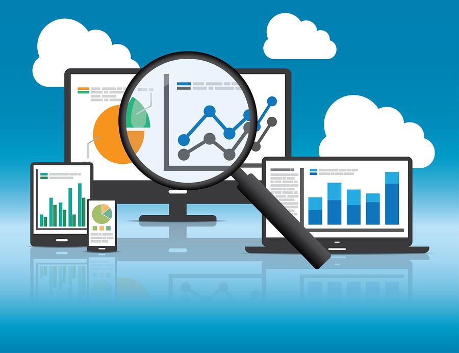 dados analíticos em vários dispositivos