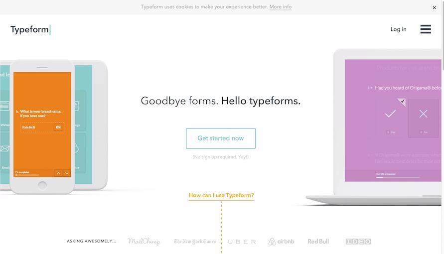 formulários typeform