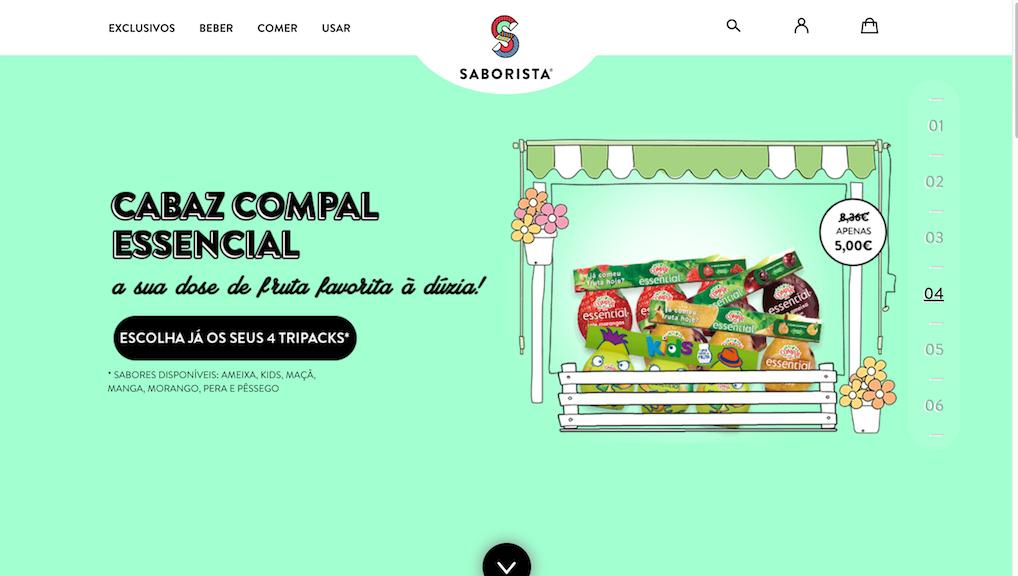homepage da Saborista