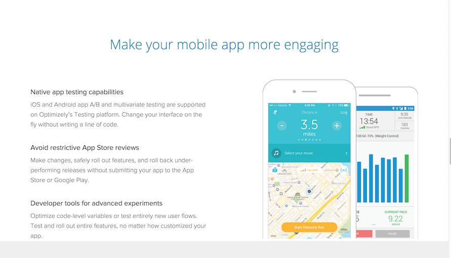 otimização de aplicação móvel