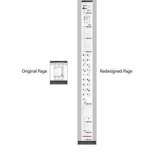 página original vs página longa