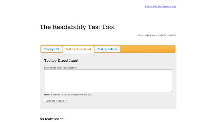 teste de legibilidade online