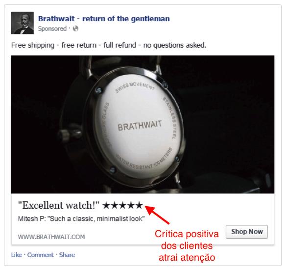critica cliente positiva atrai atenção facebook